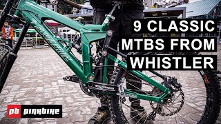 9 Classic Mountain Bikes from the Whistler Bike Park