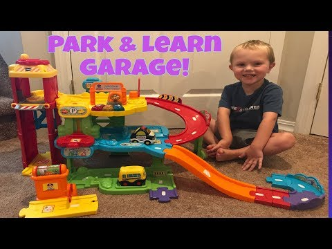 TODDLER PLAYS WITH VTECH GO GO SMART WHEELS PARK & LEARN DELUXE GARAGE! BEST VIDEOS FOR TODDLERS!