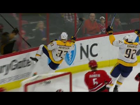 Gotta See It: Predators' Arvidsson with between-the-legs deke, top shelf snipe for stunning goal
