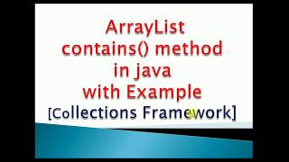 how to check element exist in arraylist in java Example