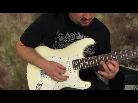 Rock and Blues Electric Guitar Solo Lesson -  Building Speed  guitar solo lick