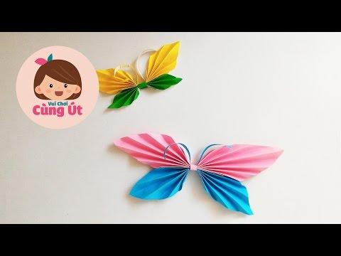 Hướng dẫn cách gấp con bướm bằng giấy