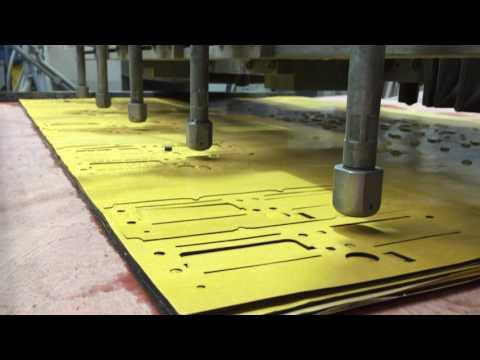 Purwasser Dichtungen - 5 Düsen - 3 Lagen Zellkautschuk Selbstklebend Stärke t=2mm