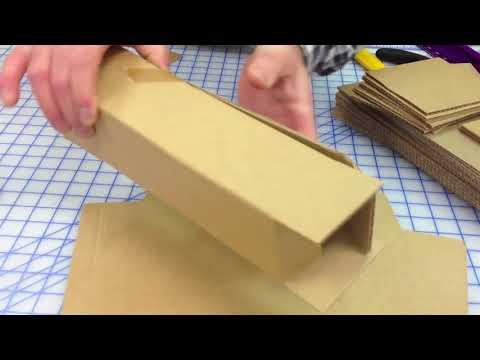 Cách gấp thùng từ bìa carton