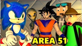 Storm RAID AREA 51 vs SONIC & BALDI CHALLENGE MOVIE Ft. GOKU (official) Minecraft Horror Animation