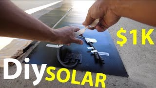 How To save $1000 off your electric bill using DIY Solar