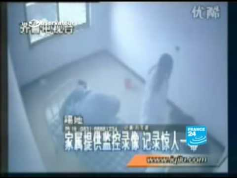 China mental patient abuse by a doctor caught on camera