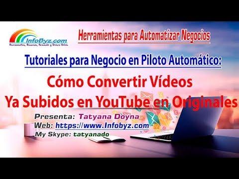 ✅Cómo convertir cualquier vídeo en original y evitar problemas en YouTube
