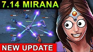 NEW MIRANA 9x ARROW PATCH 7.14 NEW UPDATE DOTA 2 NEW META GAMEPLAY #87 (REFRESHER MIRANA)