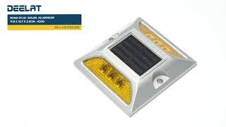 Road Stud - Solar - Aluminium - 11.8 x 10.7 x 2.5cm - 420g #D1790396
