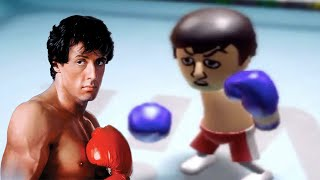 Rocky hits Max Level in Wii Sports Boxing! (Max Level = 3124 Points)