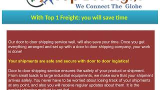 Top1Freight – People's First Choice for Door to Door Shipping Service