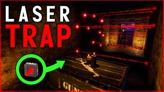 Overpowered HIDDEN LASER ELECTRIC TRAP SHOP (Automatic Profit!) - Rust Electricity Trap Base