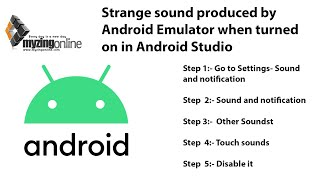 How to fix - Strange sound produced by Android Emulator when turned on in Android Studio