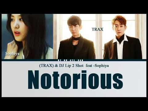 TRAX & DJ Lip 2 Shot – Notorious (Feat. Sophiya) Lyrics (Color Coded Lyrics) [Ham/Rom/Eng]