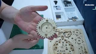 Holzpuzzle ( LK503 ): 01 Eule als Pendeluhr von Magicholz.de