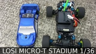 preview picture of video 'LOSI MICRO-T STADIUM FREE-PISTE TORCY (record du tour en pneus stock)'