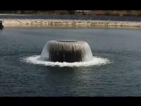 Trasvase Júcar-Vinalopó. Entrada de agua a balsa de Llanera de Ranes (Valencia). Acuamed