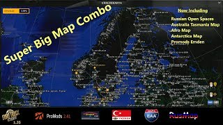 Australia Map Ets2.Ets2 1 35 Promods 2 41 Map Combo 2 Samye Luchshie Video