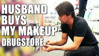 HUSBAND BUYS My DRUGSTORE MAKEUP