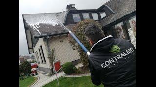 Dach Flächen Reinigen Von Moos, Saubere Dächer Ohne Hochdruckreiniger