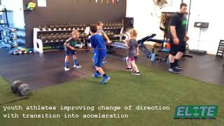Youth Athletes Developing Speed and Agility