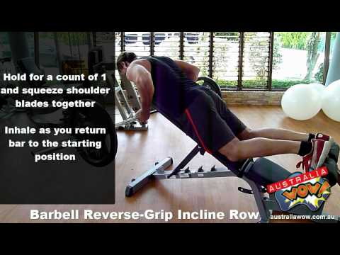 Barbell Reverse Grip Incline Row