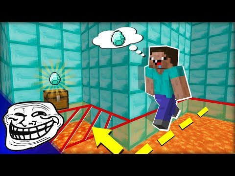 Spoustu Lidí jsme Nachytali PASTÍ S DIAMANTEM! TROLLÍME NOOBY v Minecraftu!