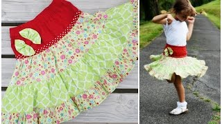 How to draft and sew a twirly Gypsy Skirt for any Age!