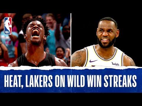 Heat Lakers On RIDICULOUS Win Streaks!