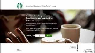 www.mystarbucksvisit.com Starbucks survey video by Surveybag