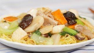 Gomoku Ankake Yakisoba (Noodle Recipe) 五目あんかけ焼きそば 作り方 レシピ