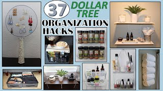 37 DOLLAR STORE ORGANIZATION IDEAS | Dollar Tree DIY | ORGANIZATION HACKS