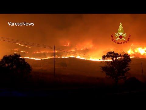 """Incendi devastanti in sud Italia. Vigili del Fuoco: """"528 interventi in 12 ore"""""""