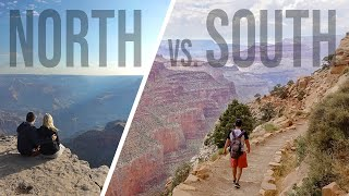 GRAND CANYON NORTH RIM vs SOUTH RIM - Grand Canyon Sunrise Video from Both | American Roadtrip 019