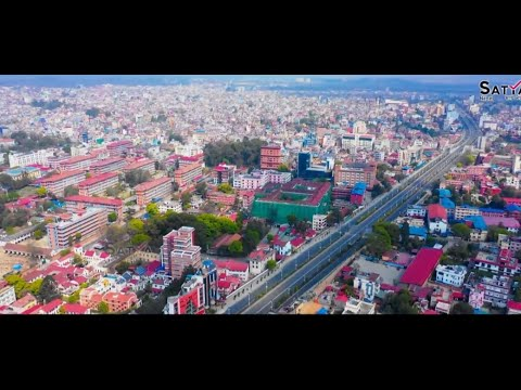 Top 10 largest cities of Nepal , aerial view