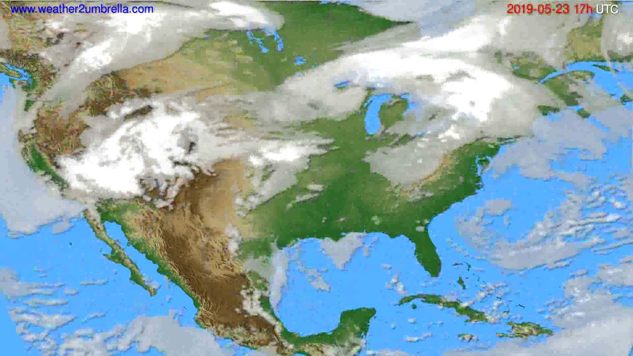 Cloud forecast USA & Canada // modelrun: 00h UTC 2019-05-22