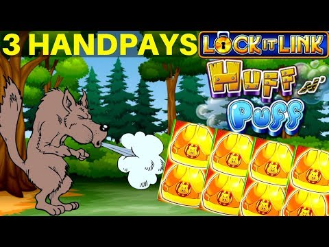 🔒(3) HANDPAYS HIGH LIMIT LOCK IT LINK HUFF N' PUFF 🔒THE COSMOPOLITAN & BELLAGIO LAS VEGAS