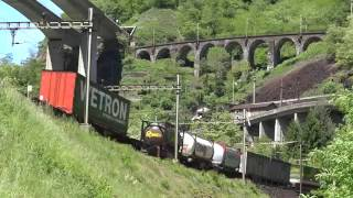 TTR224 Swiss Railways filmed from the air - the Gotthard mountain railway