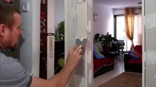 איך להדביק פינות בנישה מגבס