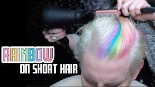 RAINBOW Color On SHORT Hair