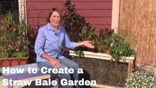 How to Create a Straw Bale Garden