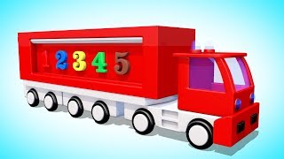 Мультик про машинки. Учим Цифры Цвета.  Развивающий мультфильм для детей. Волшебство ТВ