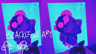 Painting Time Lapse | ✨ Trippy UV Light Art ✨