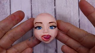 How to make Yummy Lips on a Head out of Fondant