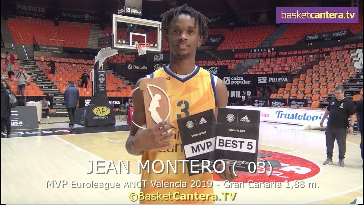 JEAN MONTERO (´03) Gran Canaria 1,88 m. MVP Euroleague AdidasNGT Valencia 2019 (BasketCantera.TV)