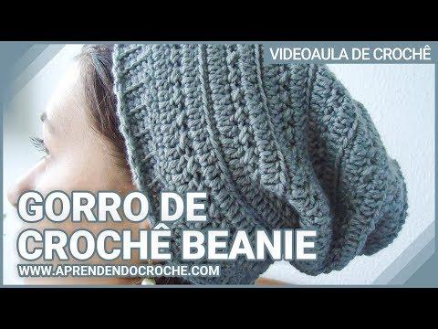 891371daea71e Gorro de Crochê Beanie - Aprendendo Crochê - Video Aulas