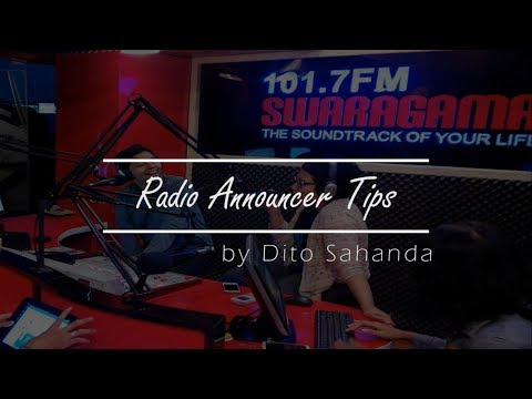Radio Announcer Tips 1