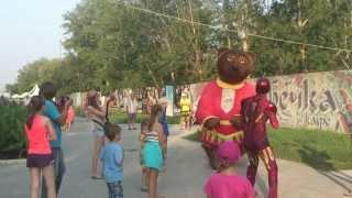 драка на детском празднике MEDVED VS IRON MAN