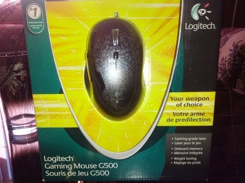 Logitech G500 gaming mouse unboxing + review